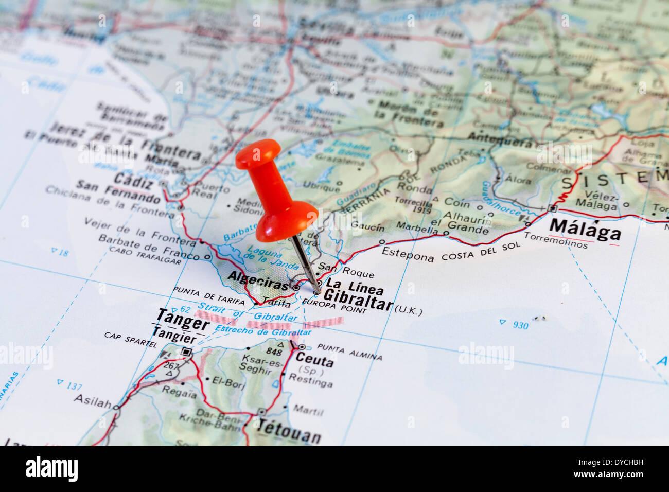 Map Of Gibraltar Stock Photos & Map Of Gibraltar Stock Images - Alamy