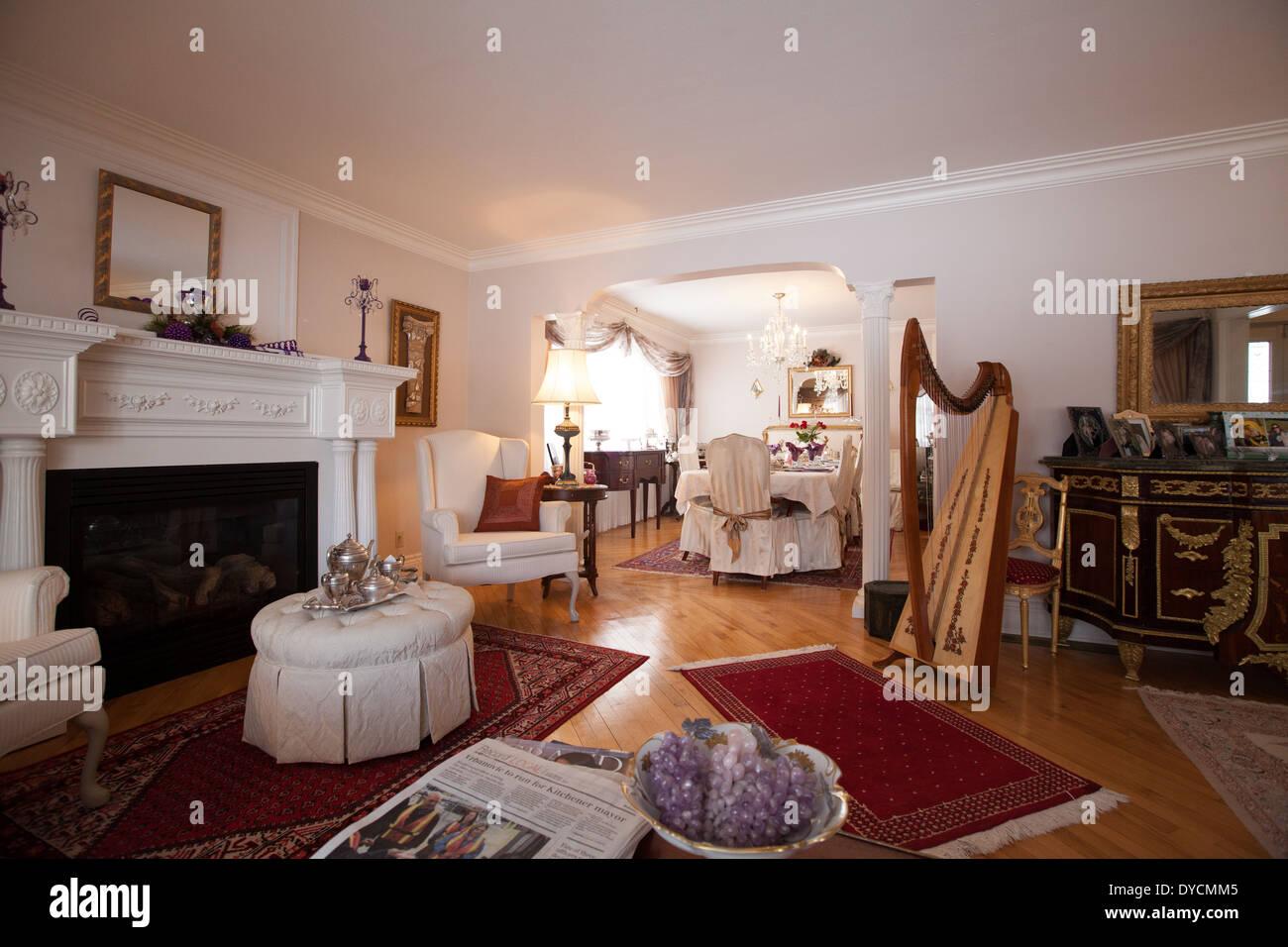 victorian style home interior - Stock Image