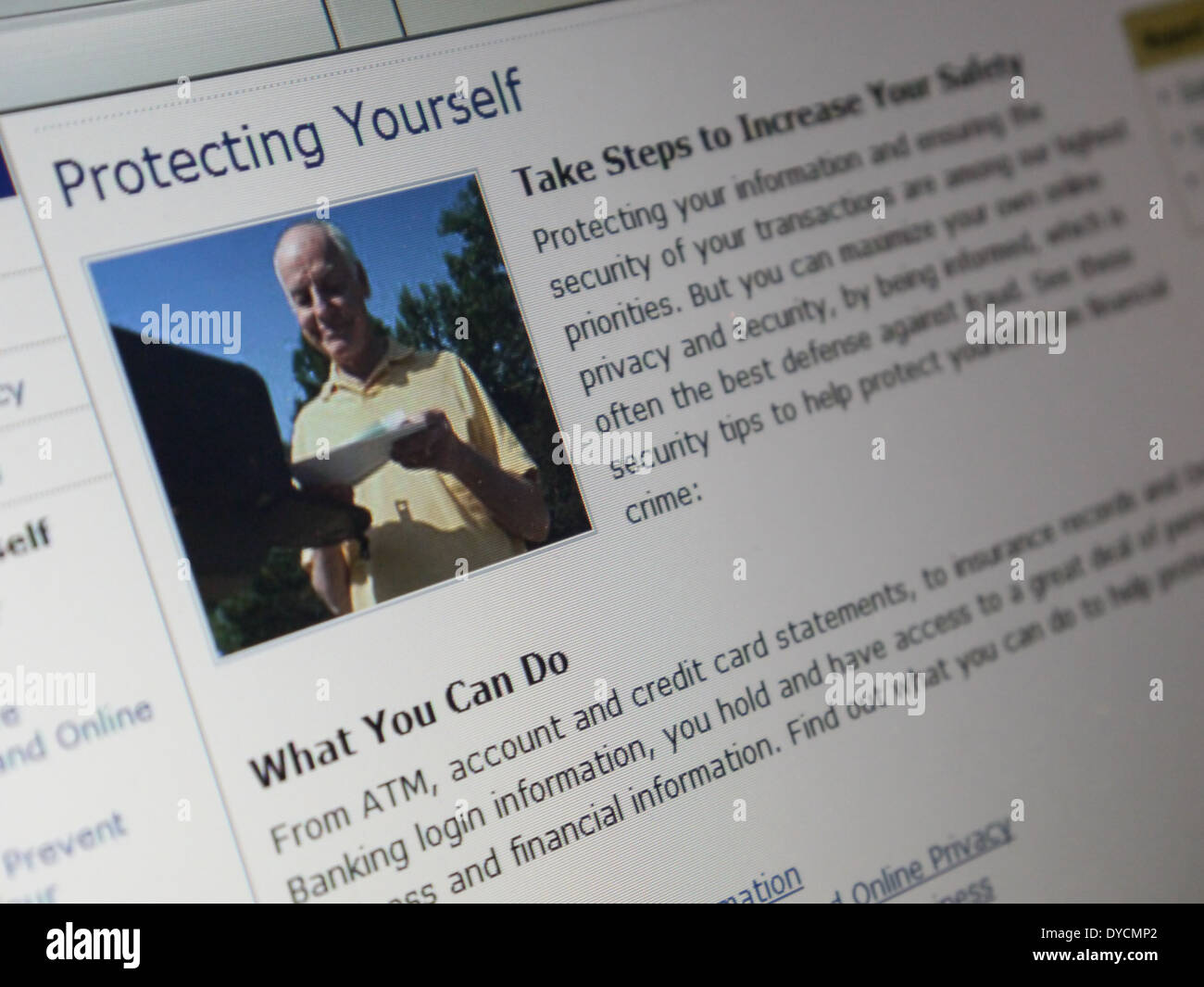 article protect yourself - Stock Image