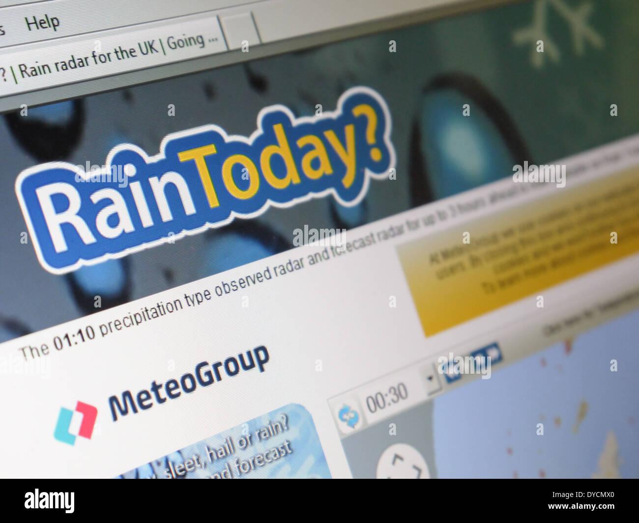 raintoday weather forecast - Stock Image