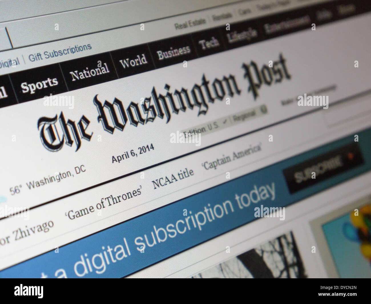 washington post website - Stock Image