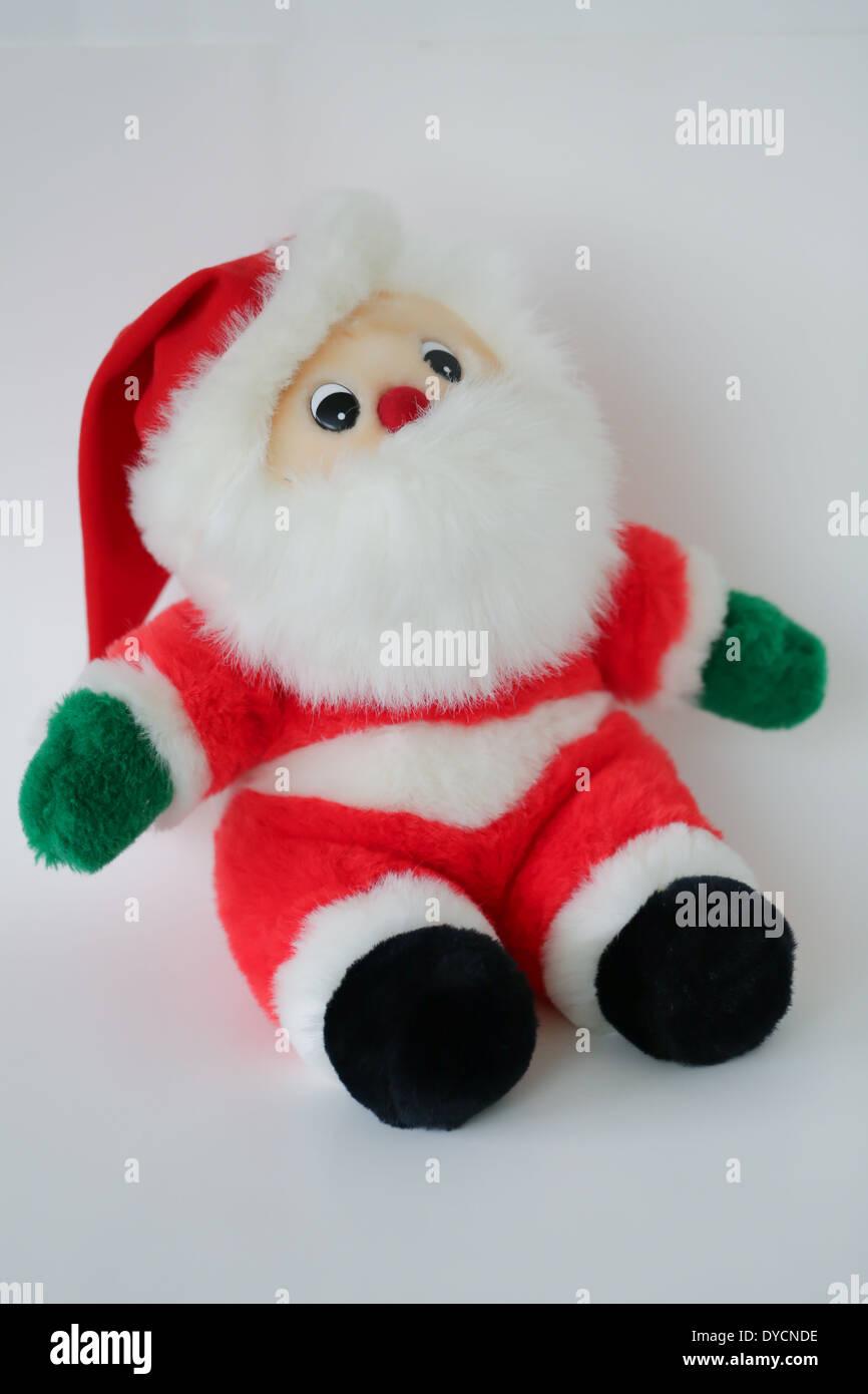 santa claus stuffed figure - Stock Image