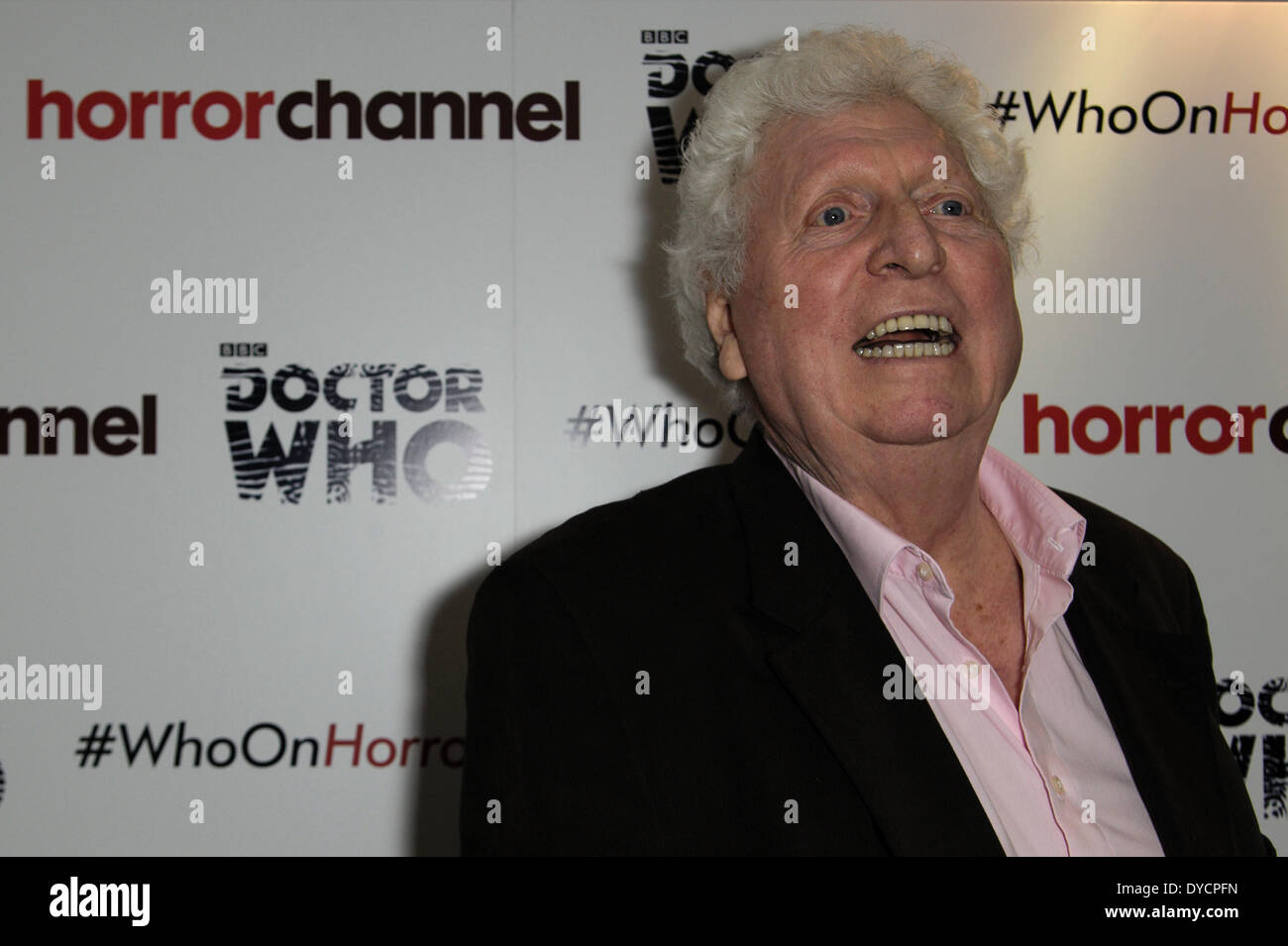 Tom Baker attends the launch for The Horror Channel season of Doctor Who on 14/04/2014 at The Ivy Club, London. The Horror Channel will broadcast 30 stories from the classic series which ran from 1963 to 1989  featuring the first seven Doctors, starting with Hartnell and concluding with Sylvester McCoy. Persons pictured: Tom Baker.  Picture by Julie Edwards - Stock Image