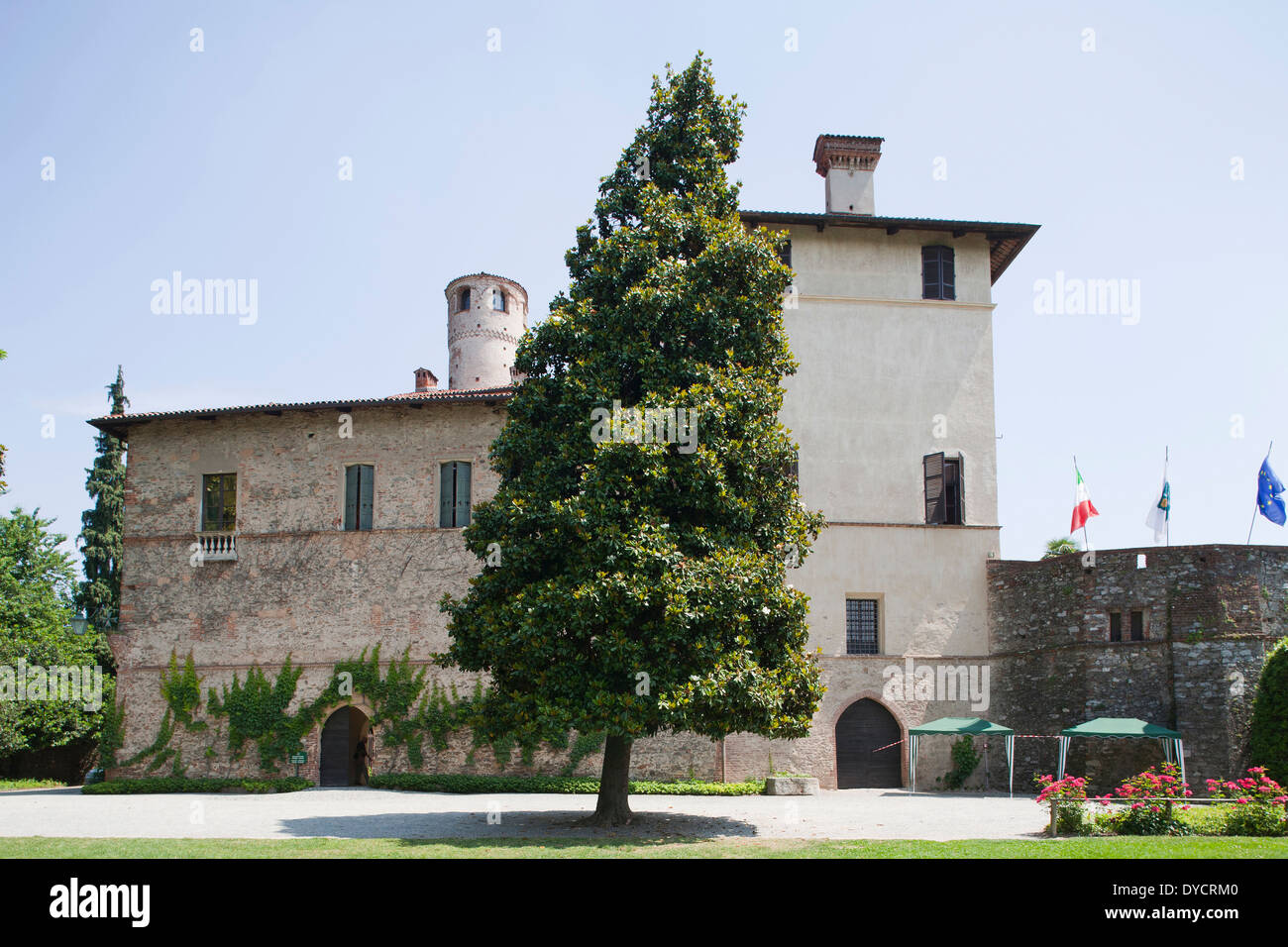 castle of the manta, cuneo, langhe, piemonte, italy, europe Stock Photo
