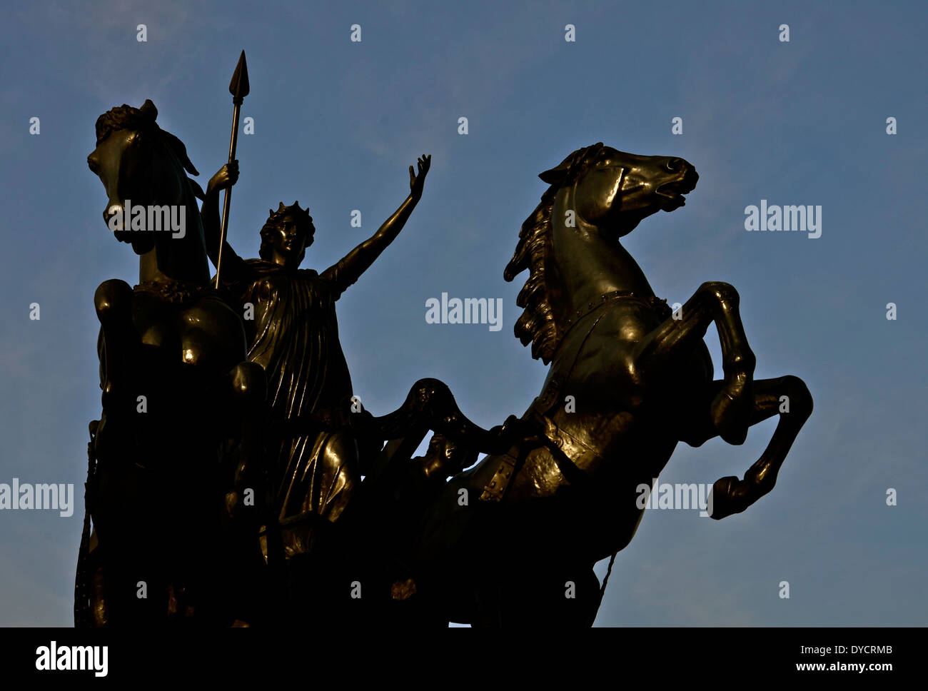 A statue in London, Opposite the houses of commons - Stock Image