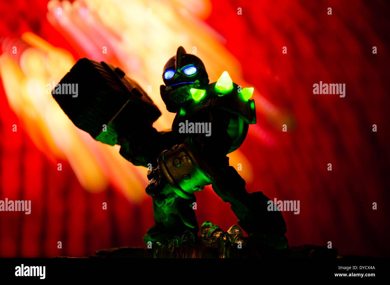 Skylanders Giants Crusher character. - Stock Image