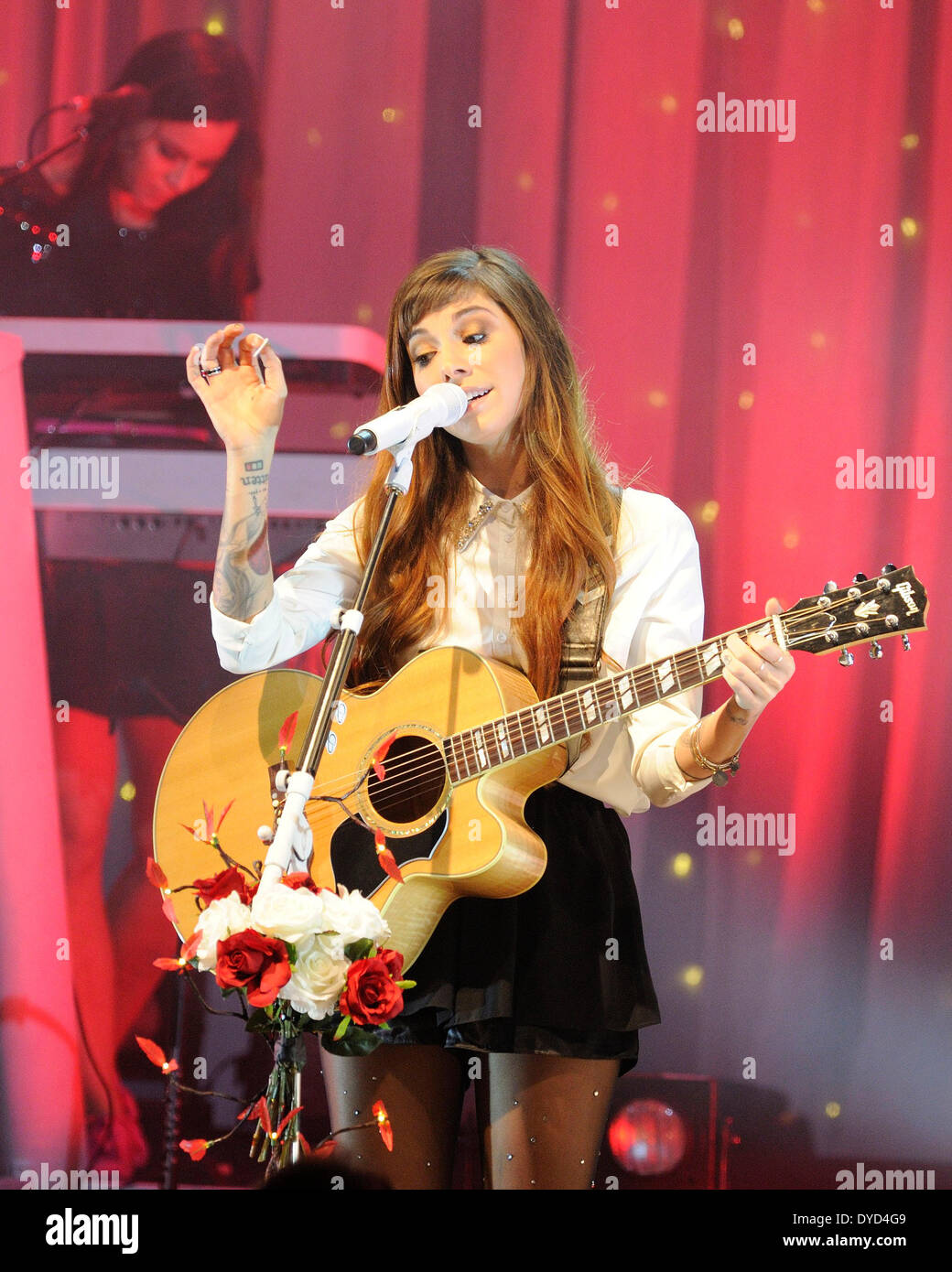 Toronto, Canada. 14th April 2014. Christina Perri performs a sold-out sold at Toronto's Danforth Music Hall during THE HEAD OR HEART TOUR in promoting her latest album 'Head or Heart'. Credit:  EXImages/Alamy Live News - Stock Image