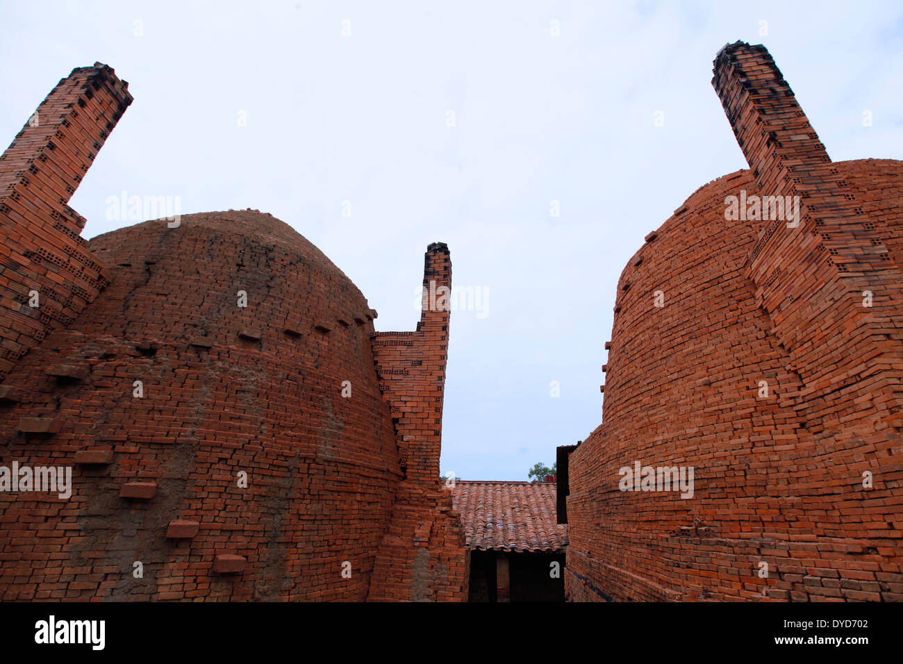 Brick kiln in Sa Dec, Vietnam - Stock Image