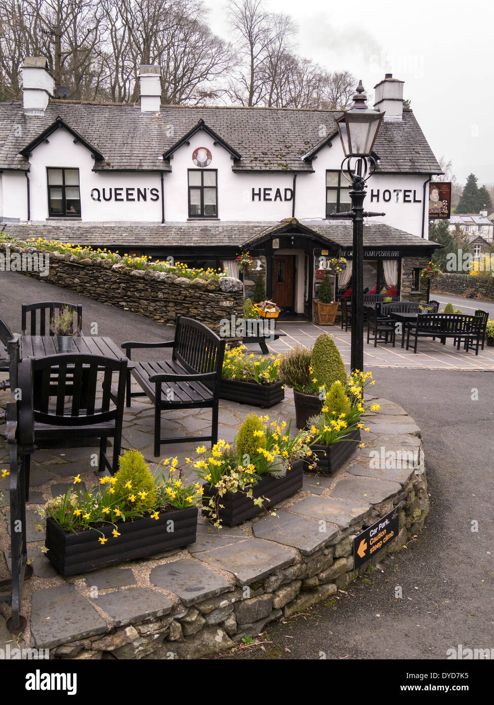 Queens Head Hotel, Troutbeck, English Lake District, Cumbria, England, UK - Stock Image