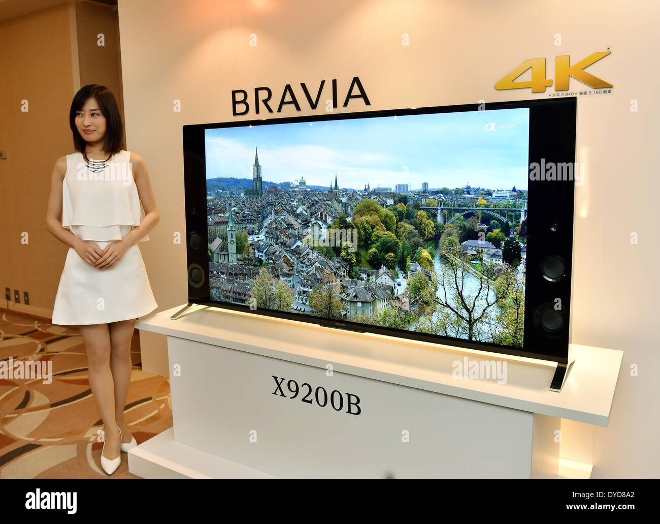 Tokyo, Japan  15th Apr, 2014  Sony unveils a slew of Bravia 4K Stock