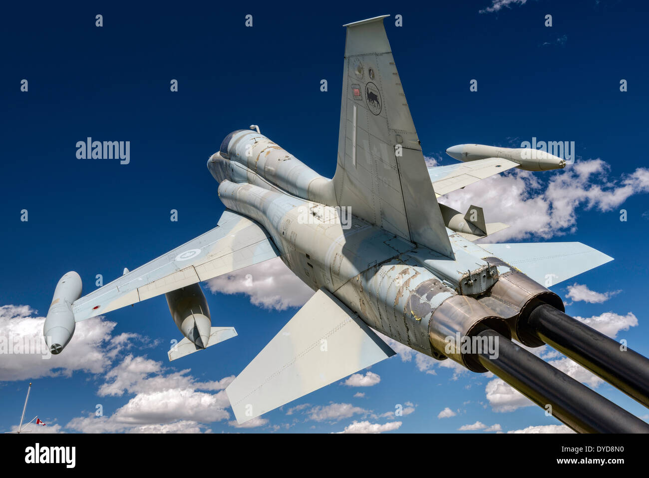 CF-5A Freedom Fighter airplane, The Military Museums in Calgary, Alberta, Canada - Stock Image