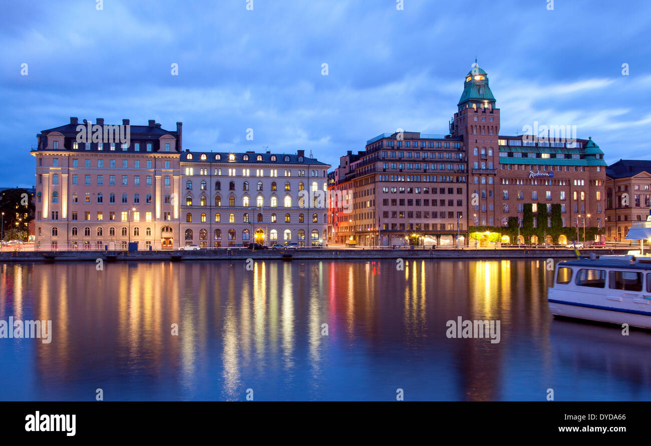 Radisson Blu Strand Hotel, formerly Strand Hotel, offices and commercial buildings, Nybrokajen, Stockholm, Stockholms län or - Stock Image