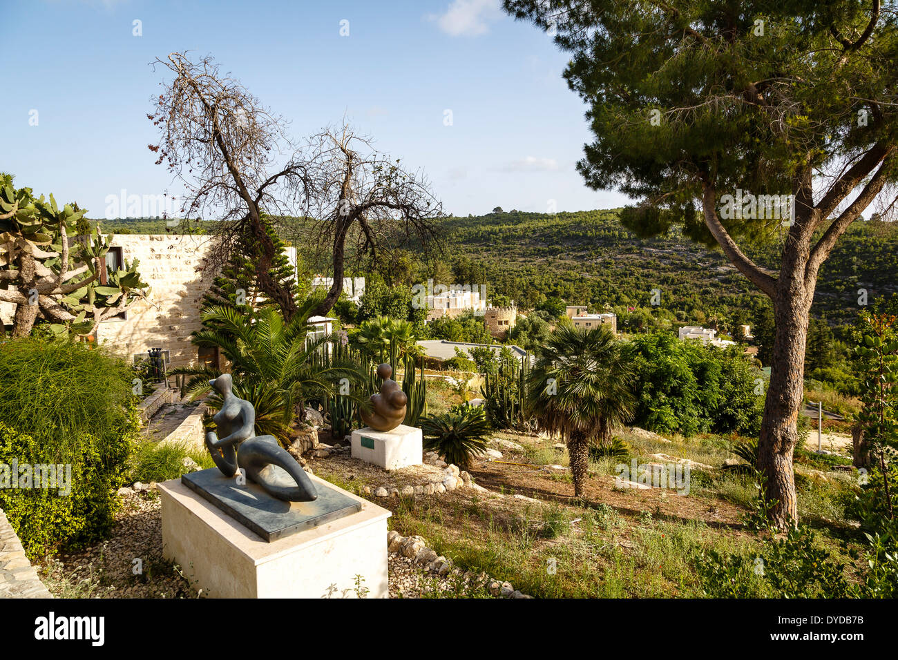 The artists village of Ein Hod, Carmel mountains, Israel - Stock Image