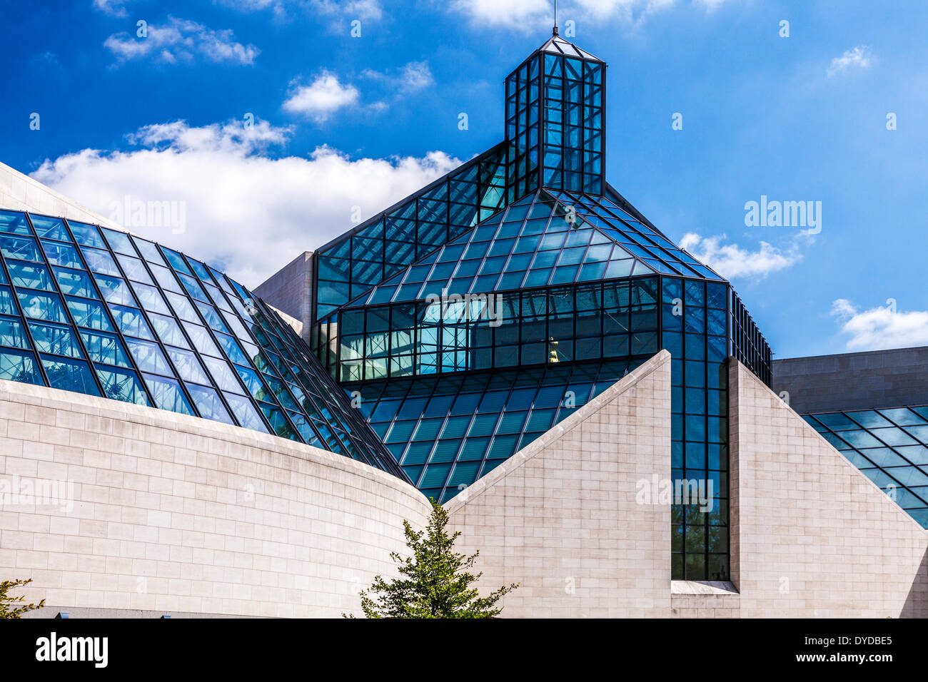 The MUDAM Museum of Modern Art in the Kirchberg district of Luxembourg City. - Stock Image