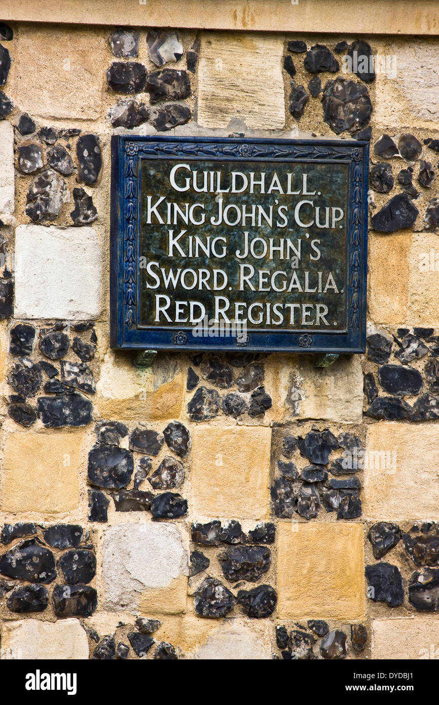 Detail of the contstruction of King's Lynn Guildhall. - Stock Image