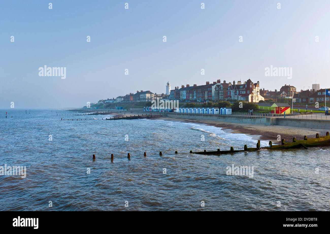 Southwold in the soft light of a summer evening. - Stock Image