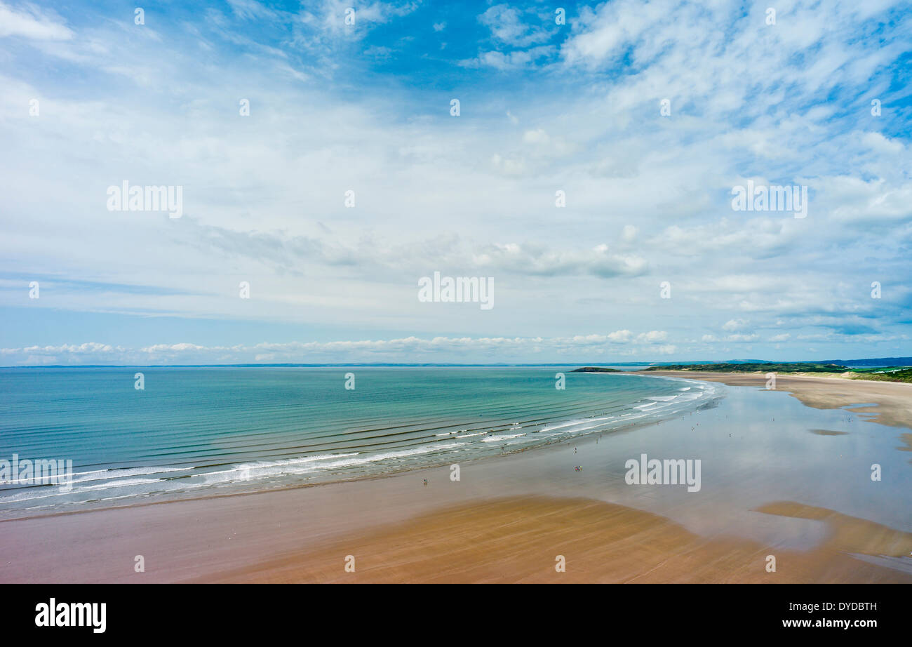 Rhossili beach on the Gower Peninsula in South Wales. - Stock Image