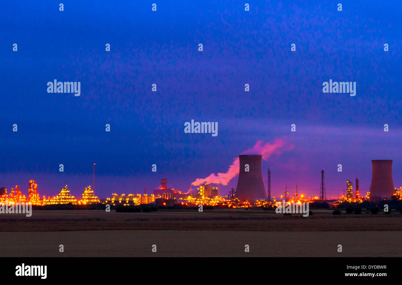 Saltend Chemicals Park in Kingston upon Hull. - Stock Image