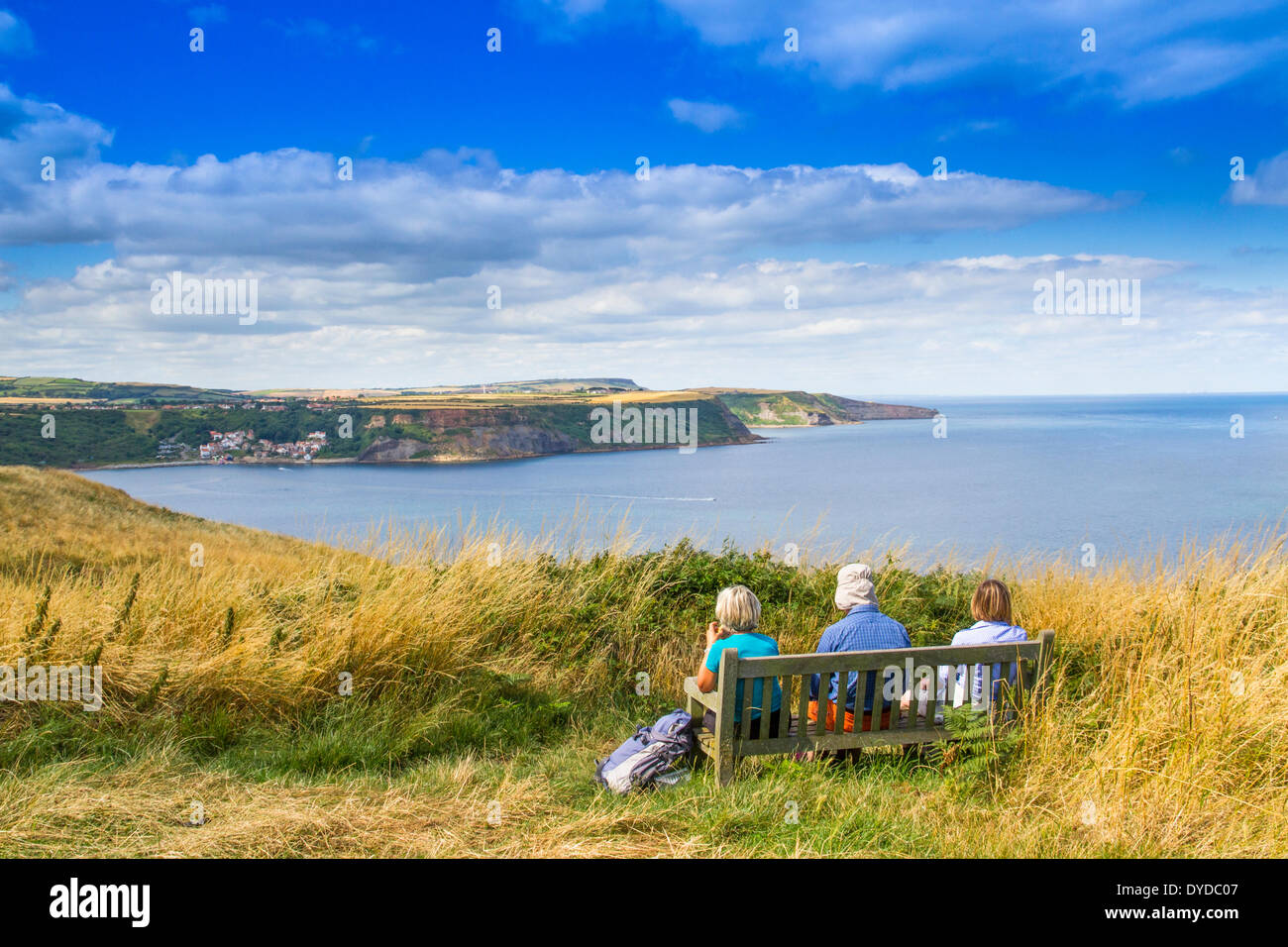 Enjoying a sea view on a summers day. - Stock Image