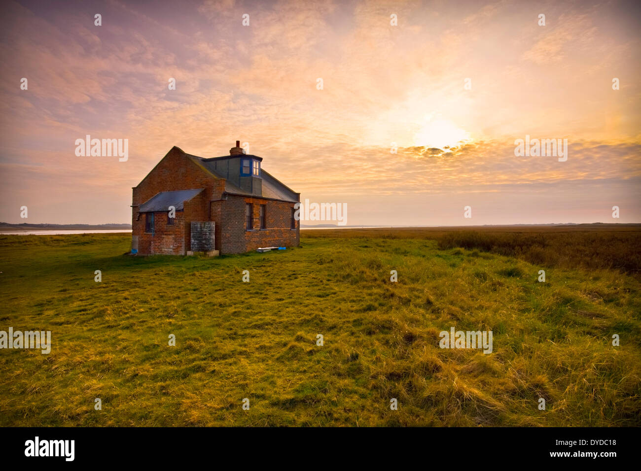 Former coastguard lookout on Blakeney Point. - Stock Image