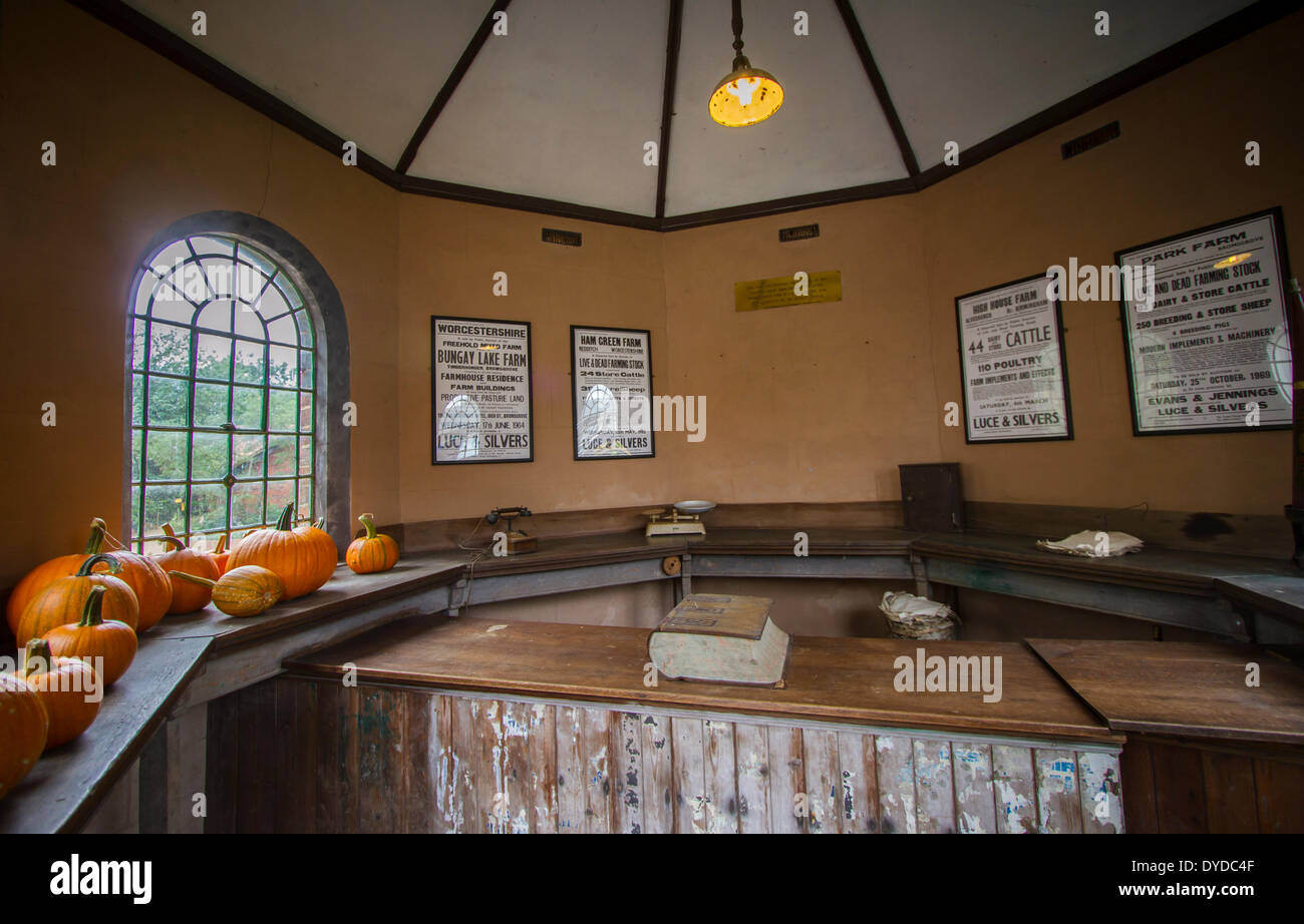 Cattle market Counting House at Avoncroft Museum of Buildings. - Stock Image
