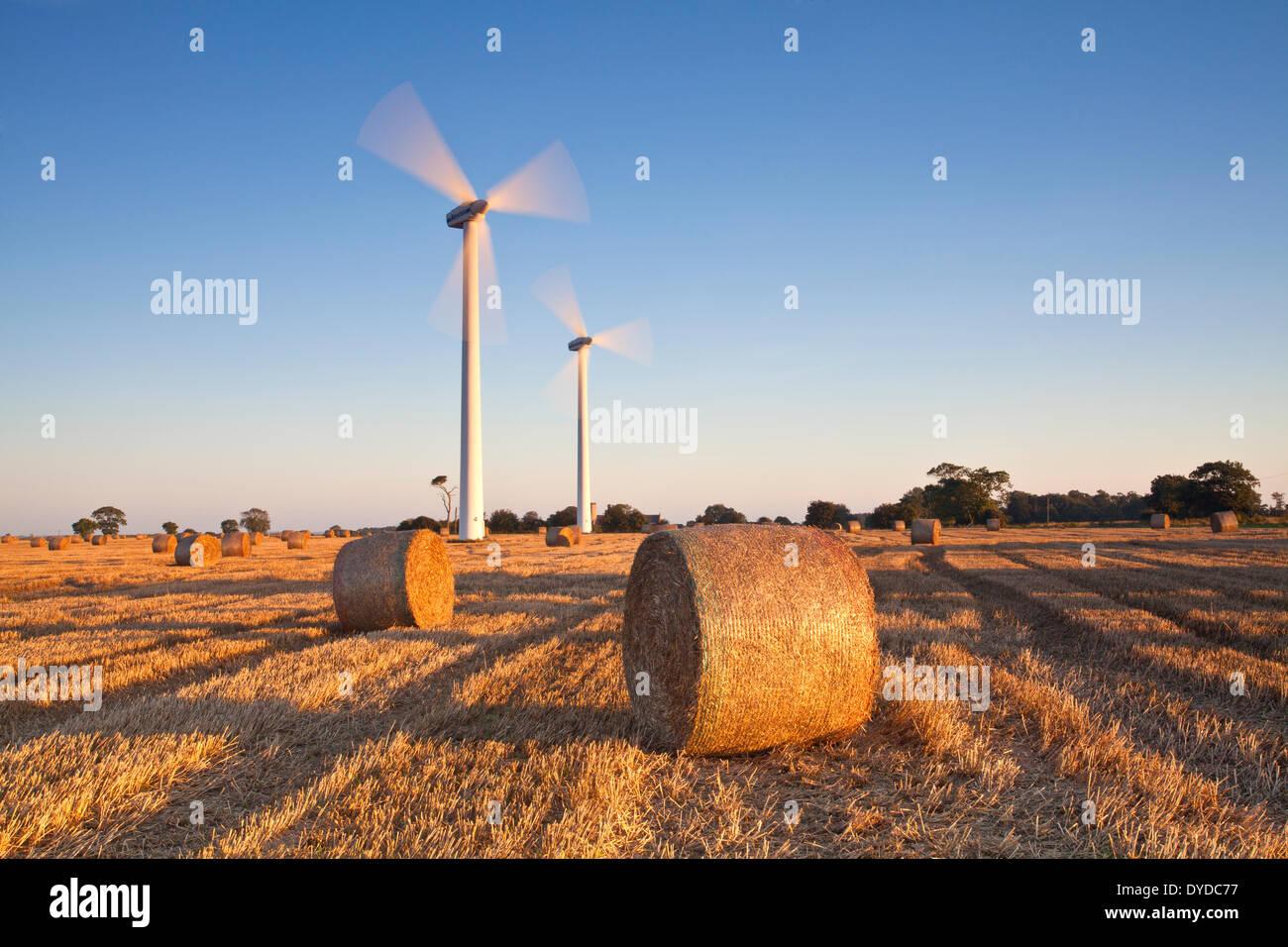 Winterton wind farm in Norfolk. - Stock Image