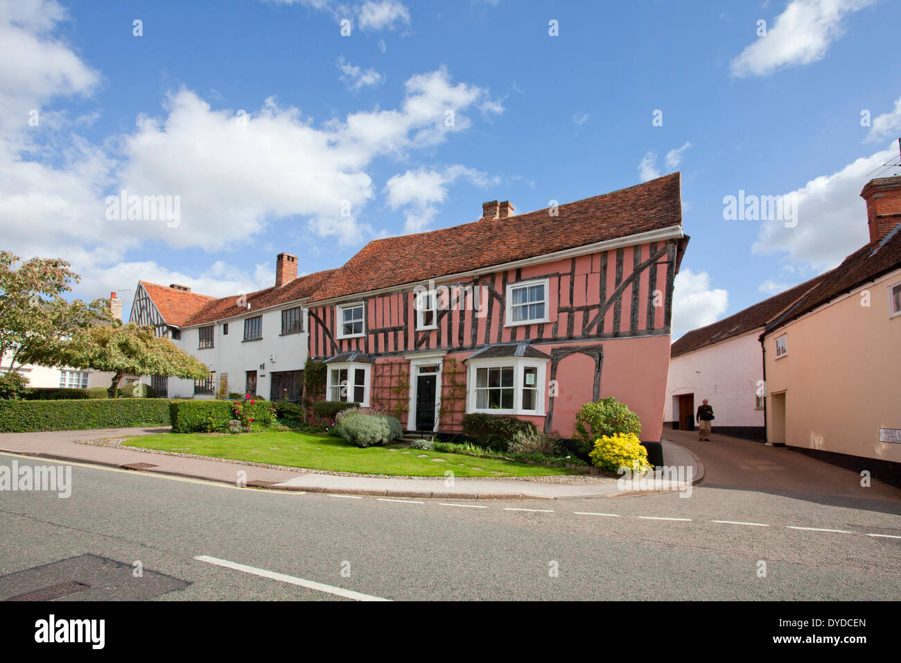The village of Lavenham. - Stock Image