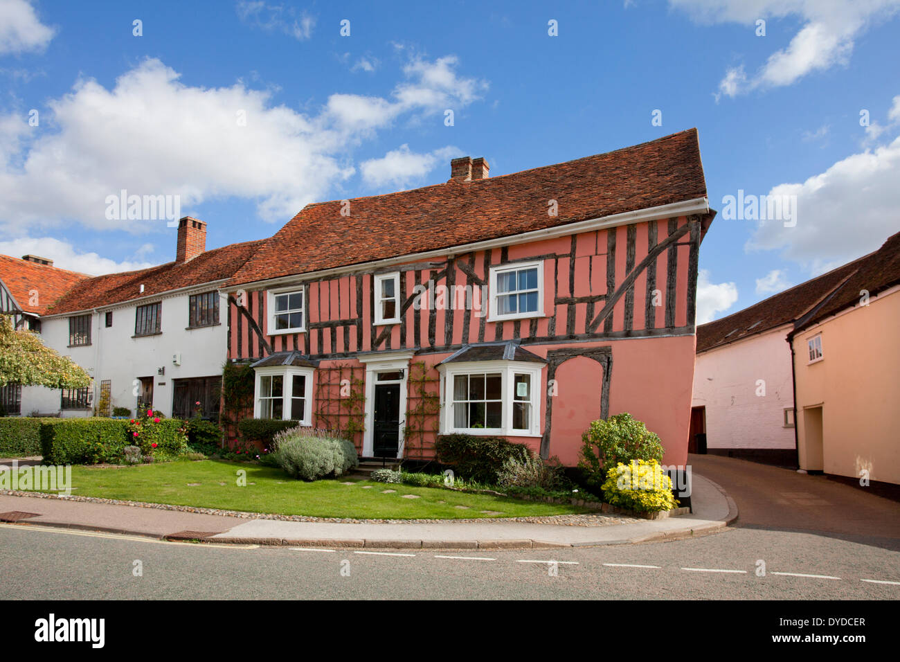 The village of Lavenham. - Stock Image