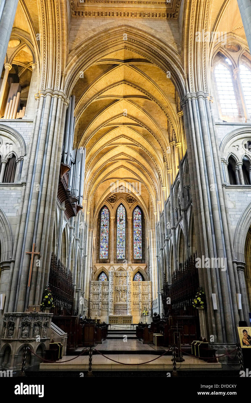 The interior of Truro Cathedral. - Stock Image