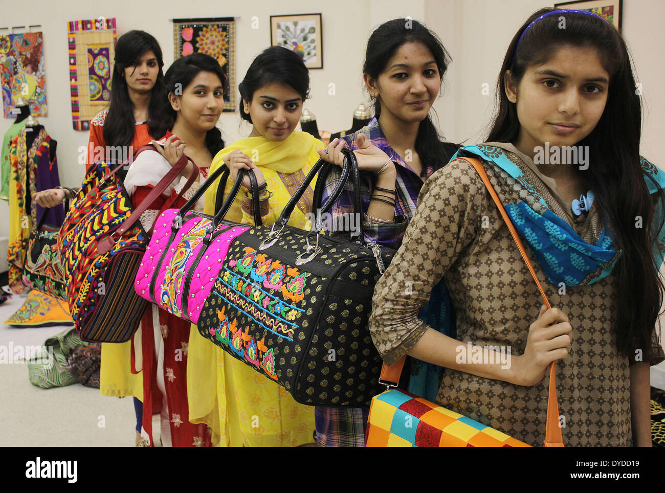 LAHORE, PAKISTAN - APRIL 15 : Pakistani students of (LCWU) Lahore