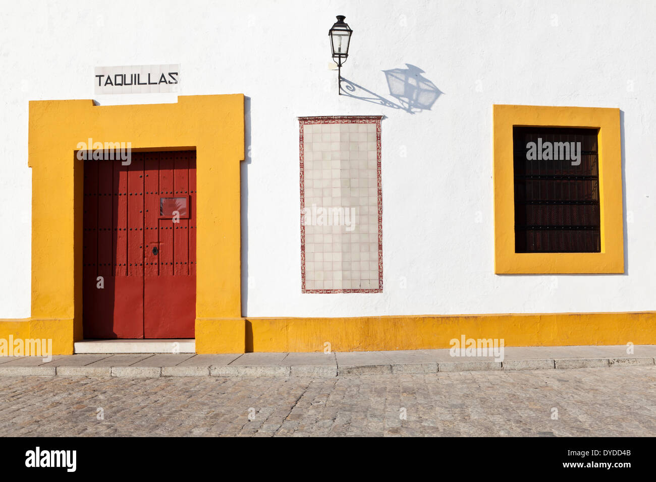 Exterior gates of the Plaza de toros de la Real Maestranza. - Stock Image