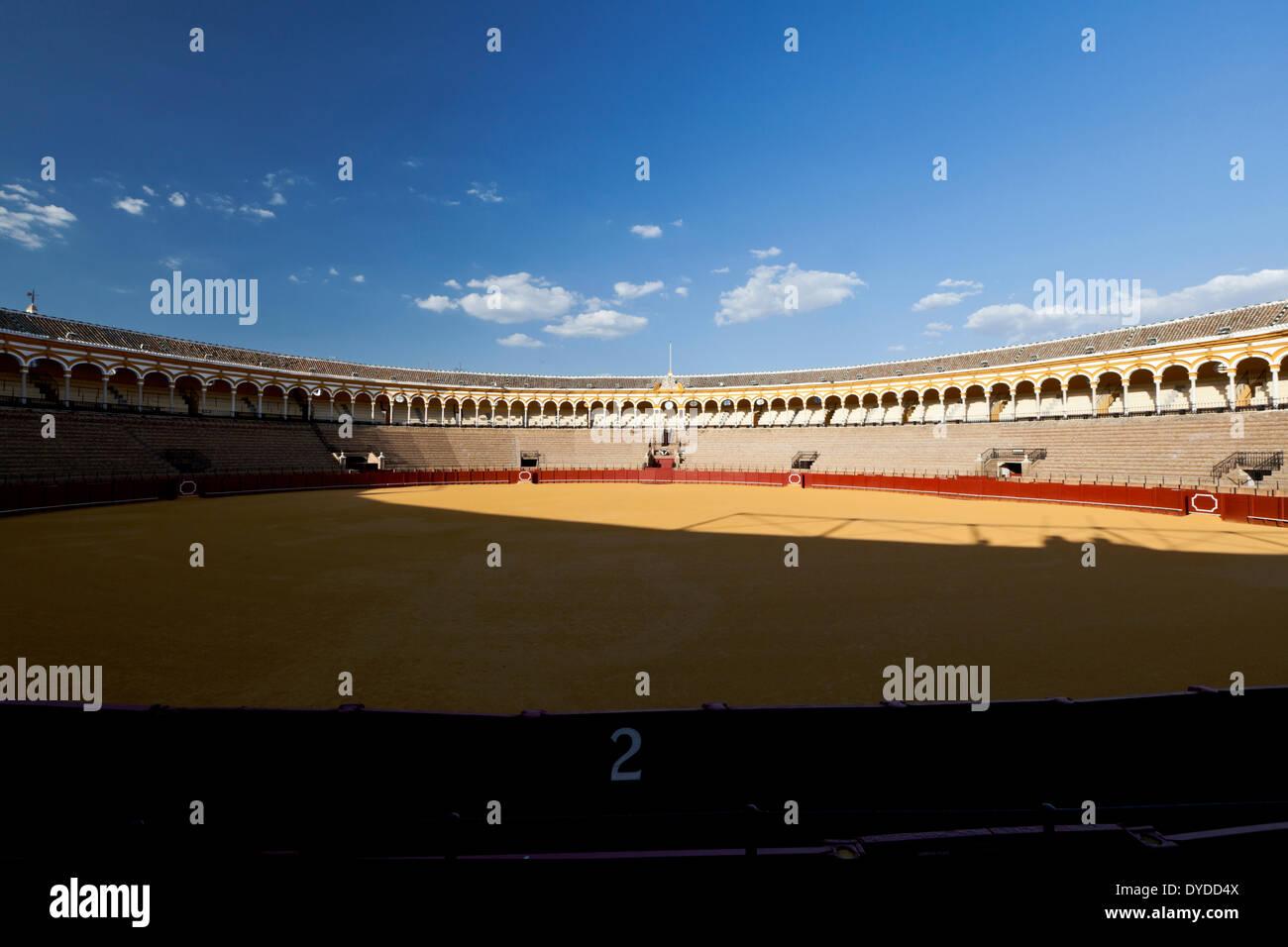 Plaza de toros de la Real Maestranza is the oldest bullring in Spain. - Stock Image