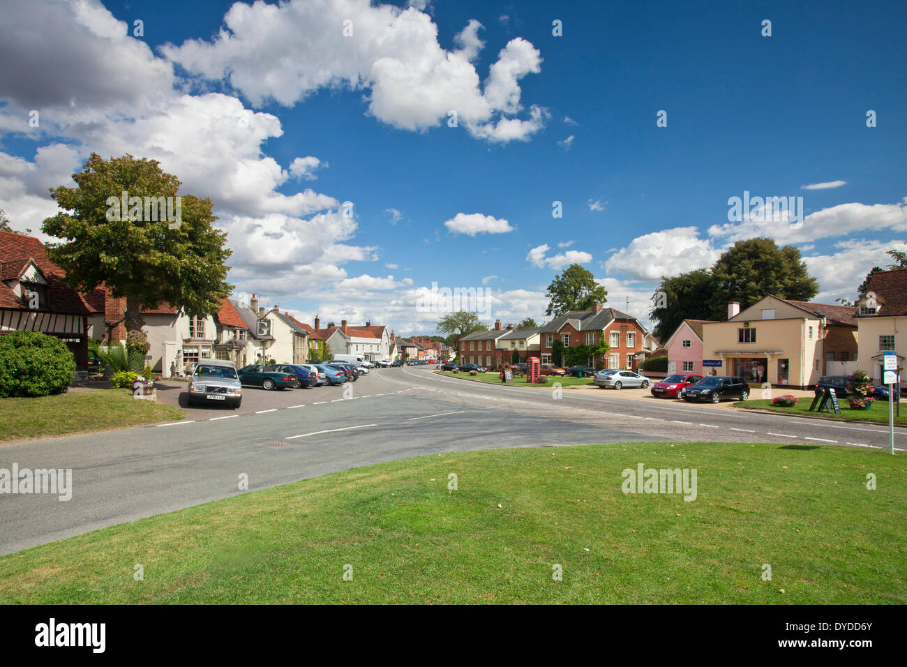 The picturesque village of Cavendish in Suffolk. - Stock Image