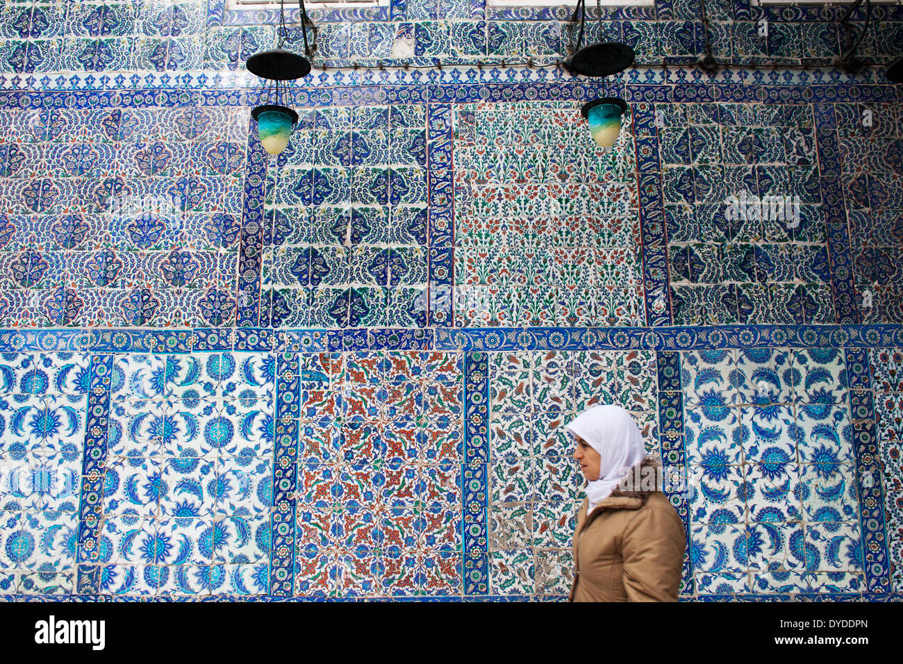 Arabesque at Eyup Sultan Mosque. - Stock Image