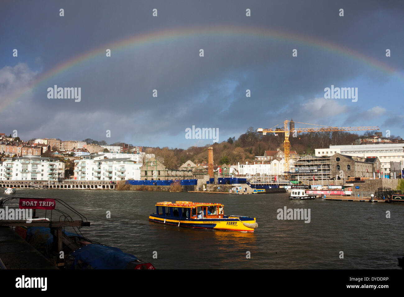 Ferry boat in Harbourside. - Stock Image