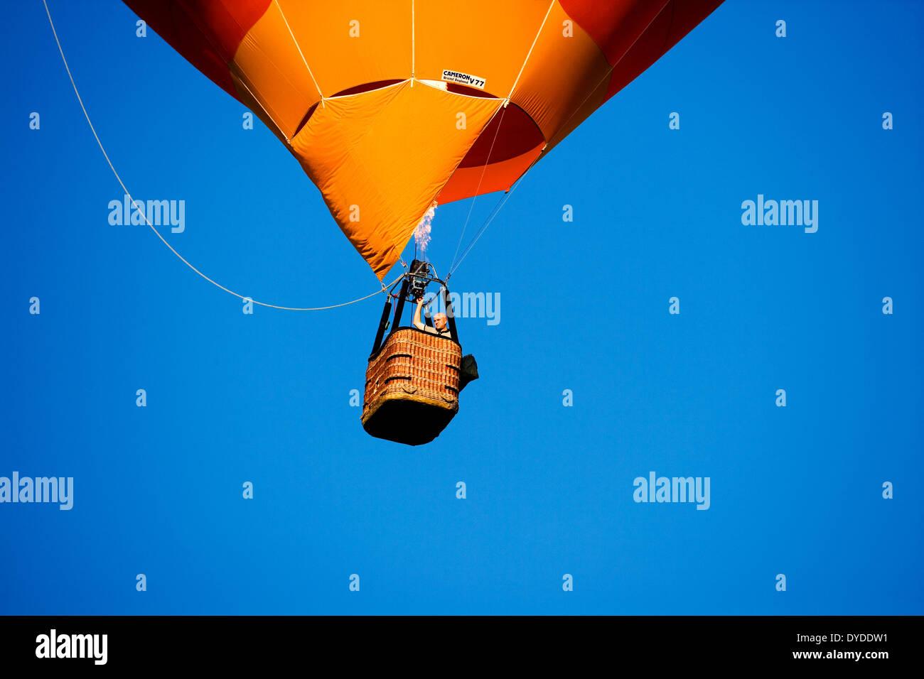 A hot air balloon. - Stock Image