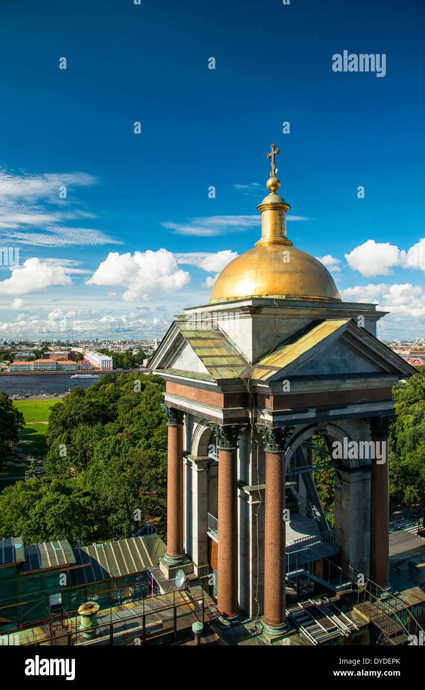 Views over Saint Petersburg from the top of Saint Isaac's Cathedral. - Stock Image