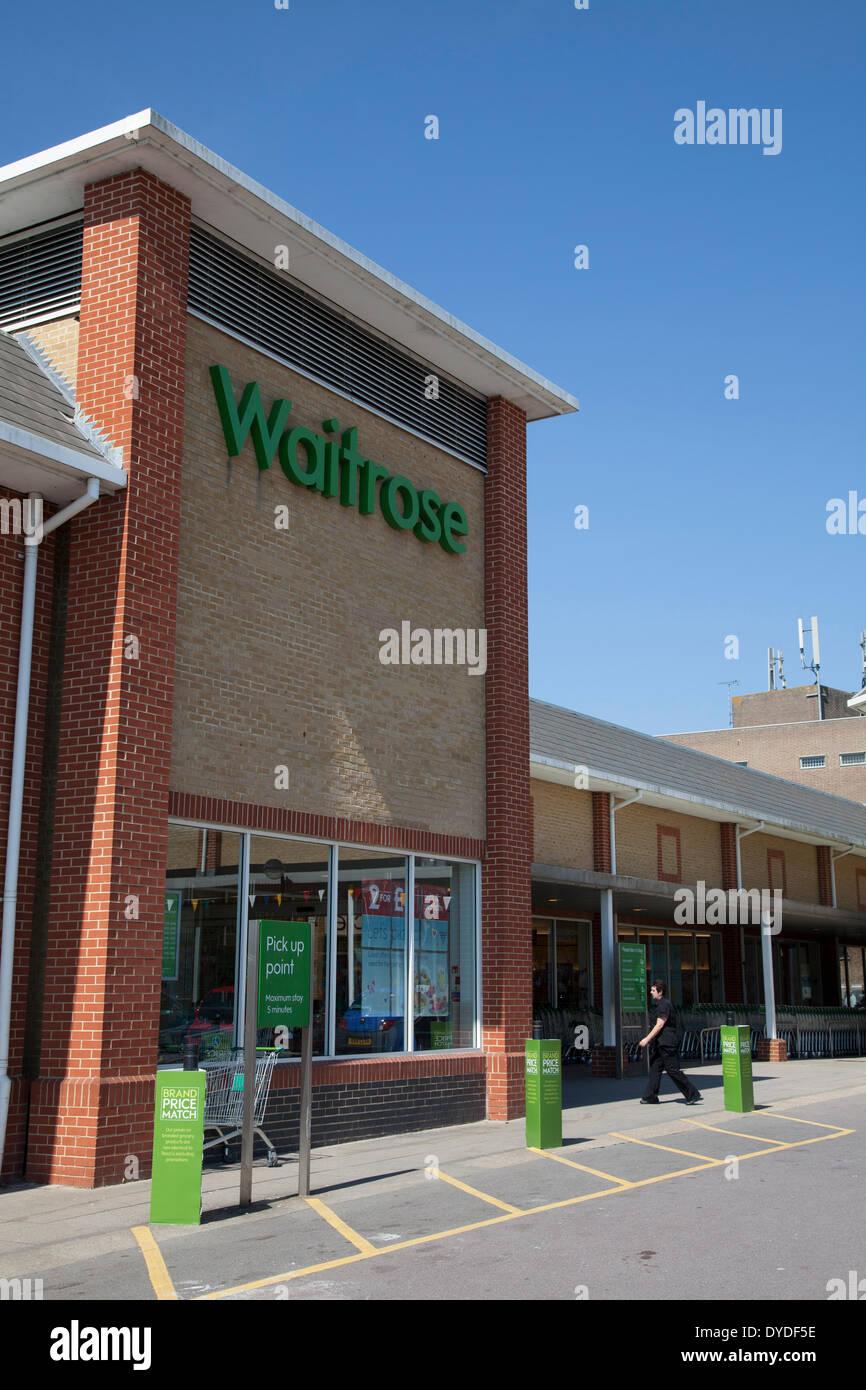 Waitrose supermarket exterior. - Stock Image