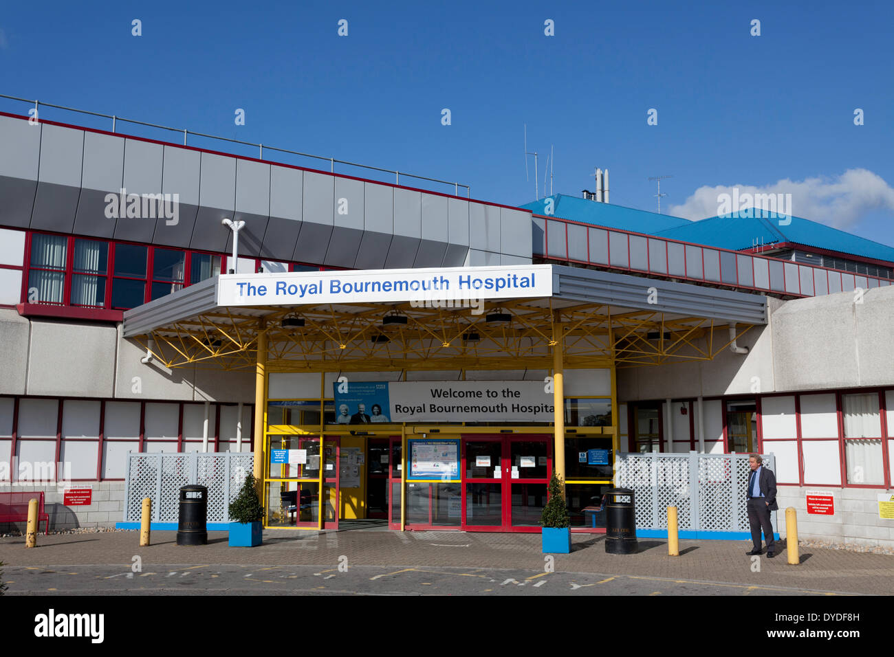 Royal Bournemouth Hospital main entrance. - Stock Image
