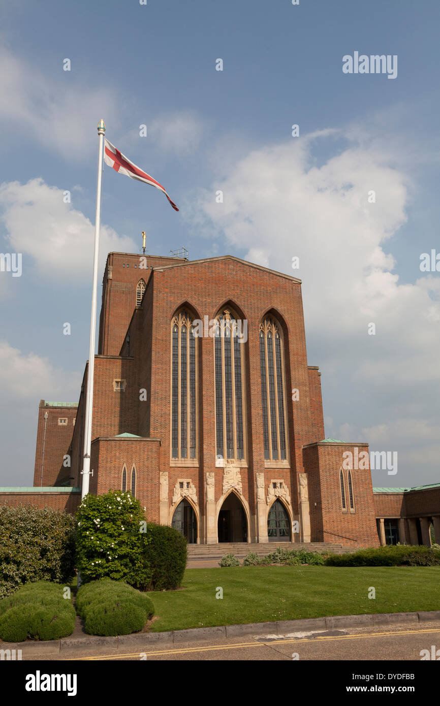 Exterior view of Guildford Cathedral. - Stock Image