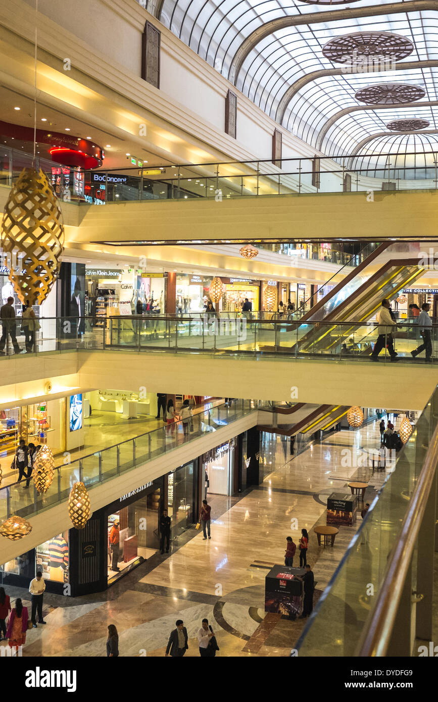 Interior of an upscale shopping mall. - Stock Image