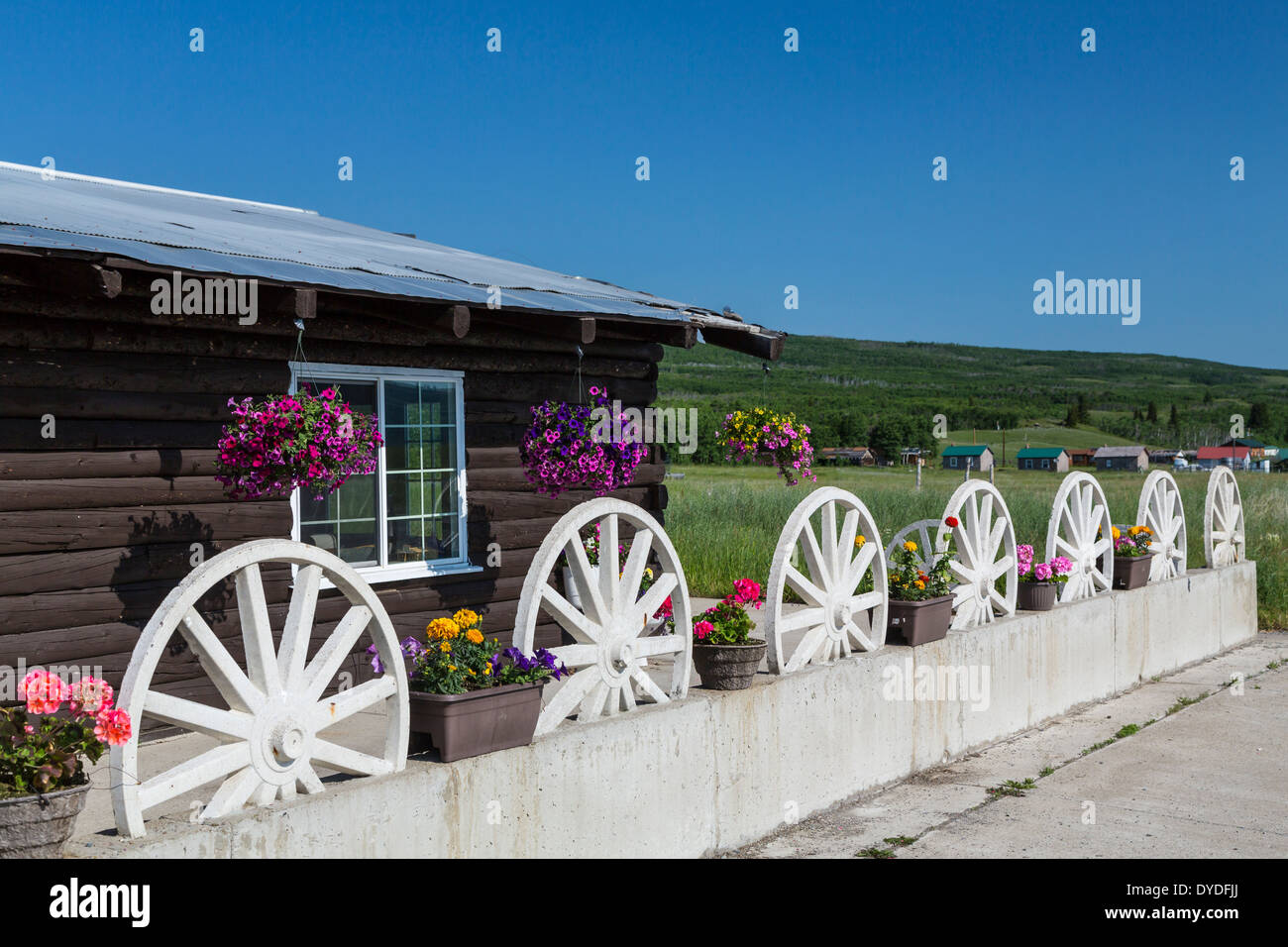 The Cattle Baron Supper Club at Babb, Montana, USA. - Stock Image