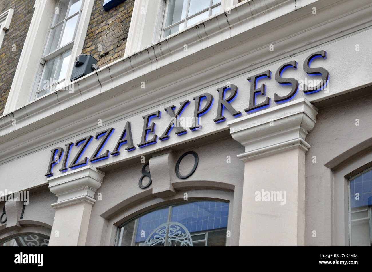 Pizza Express Restaurant In St Martins Lane Stock Photo