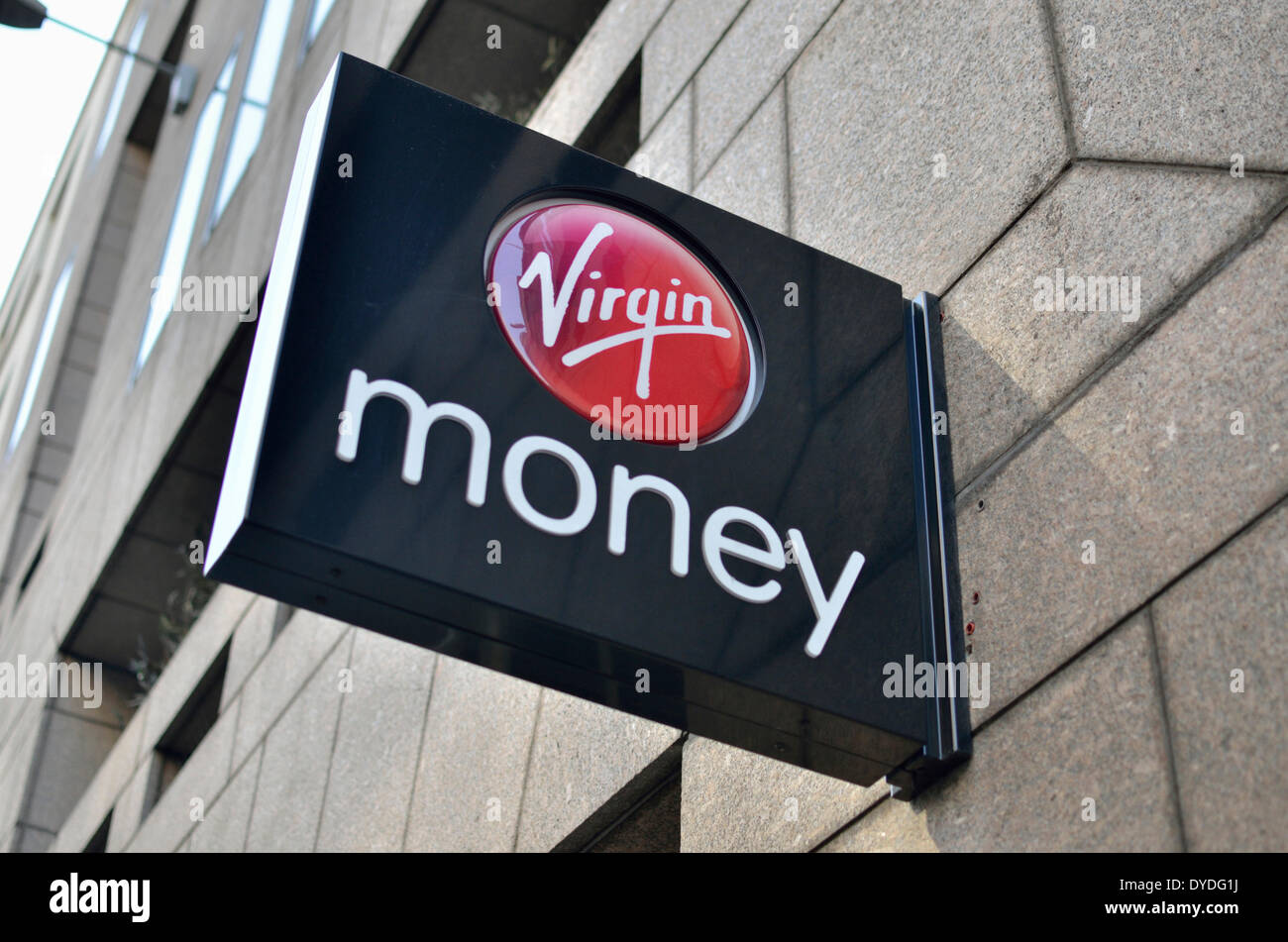Virgin Money bank branch in Moorgate. - Stock Image