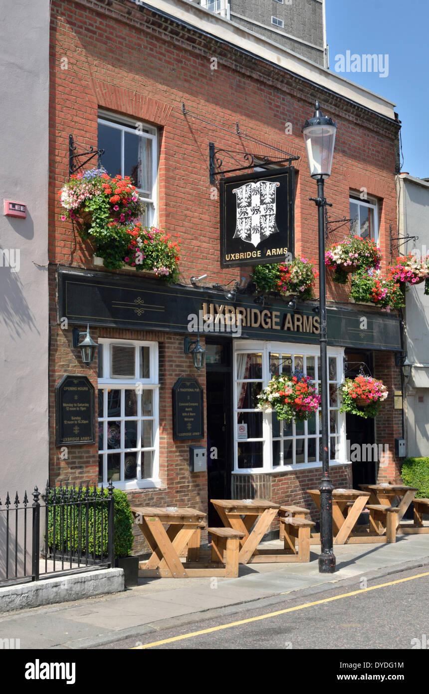 Uxbridge Arms pub in Uxbridge Street. - Stock Image