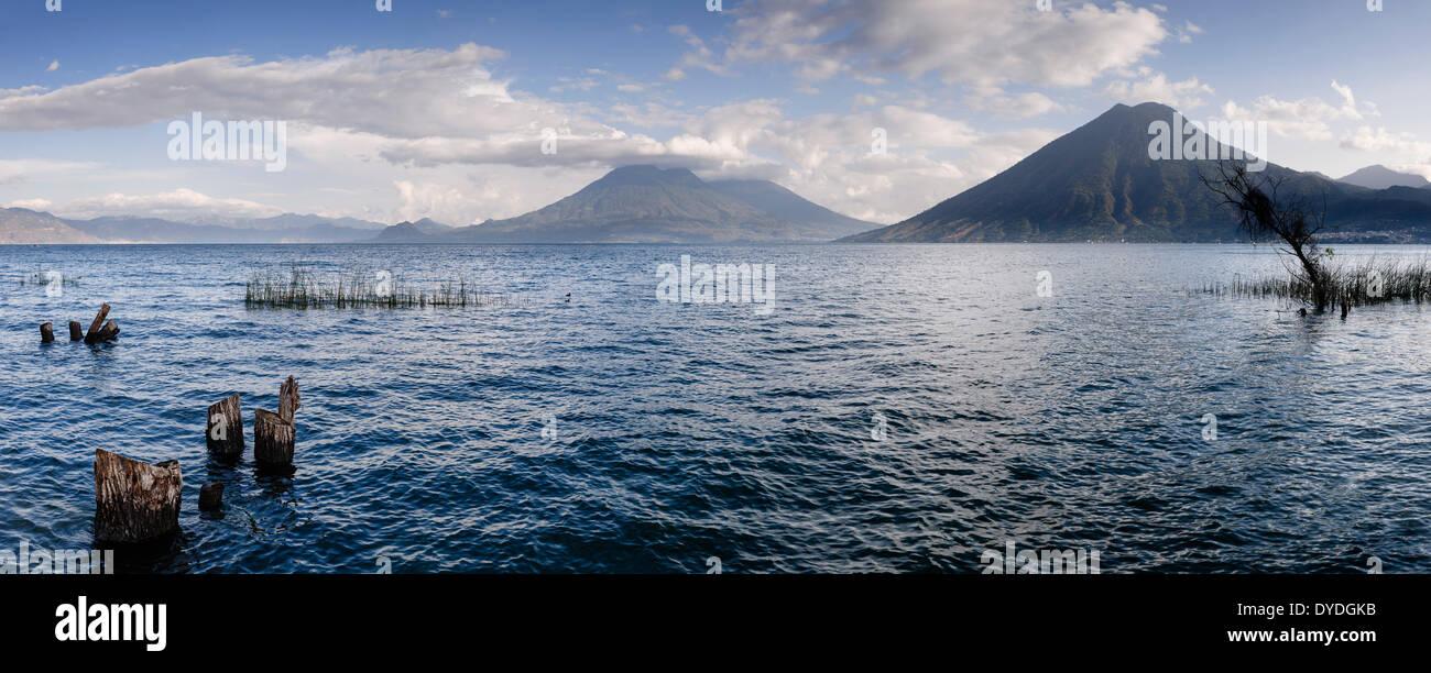 View of Lake Atitlan from San Marcos La Laguna. - Stock Image