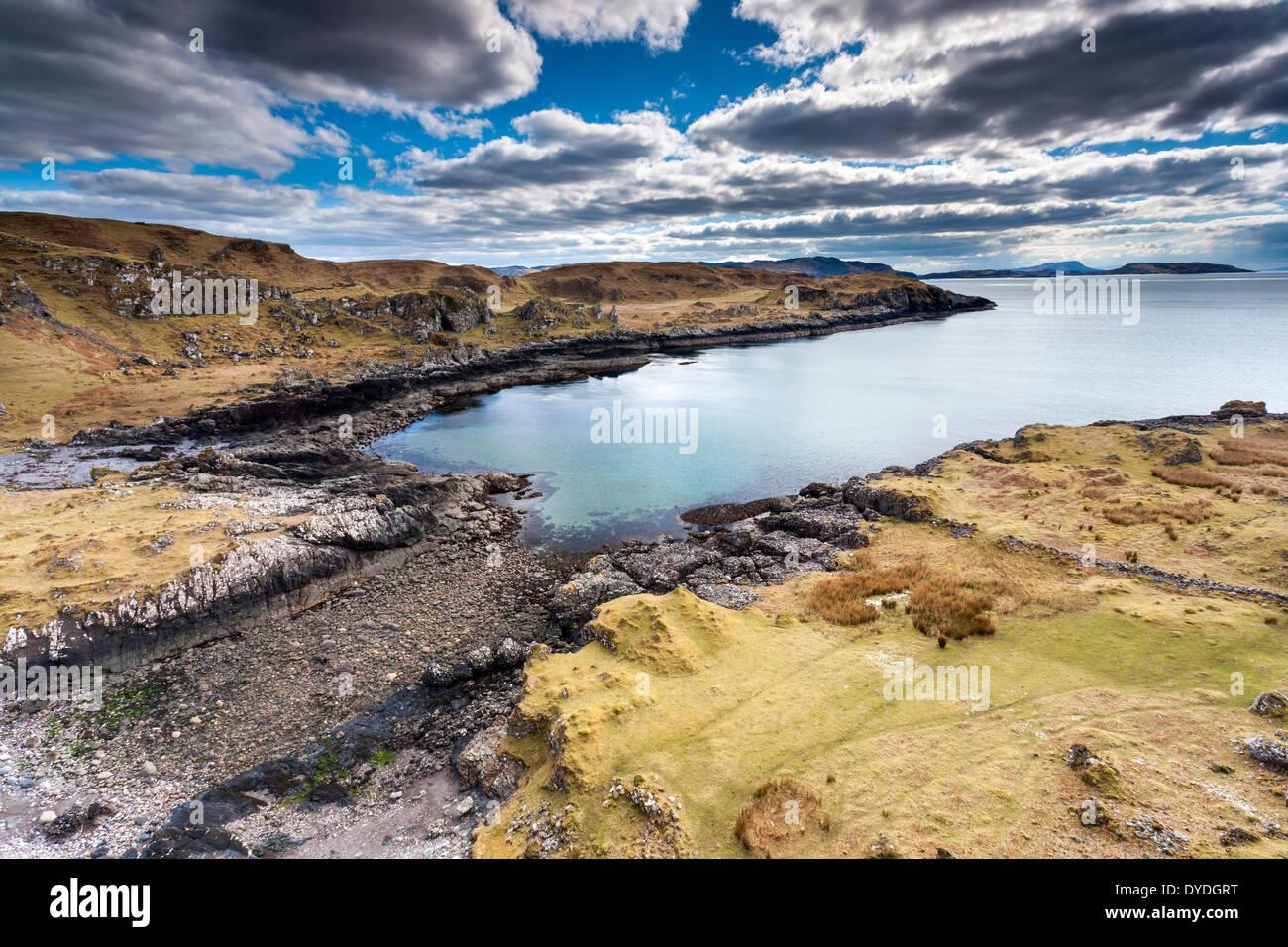 A view over Port a Chroinn on the Kerrera Island. - Stock Image