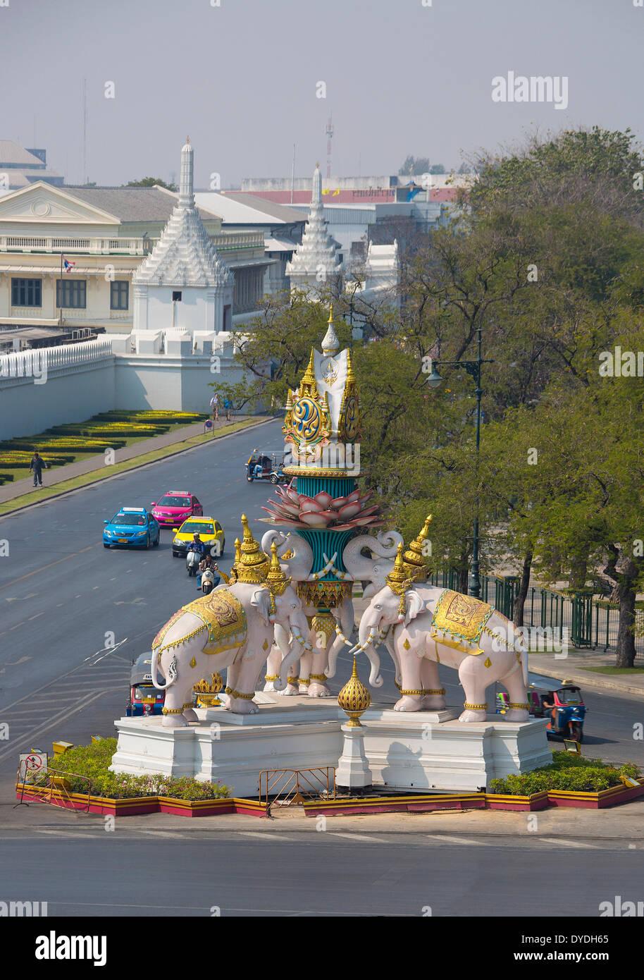 Bangkok, Thailand, Asia, colourful, elephants, monument, palace, royal, touristic, travel - Stock Image