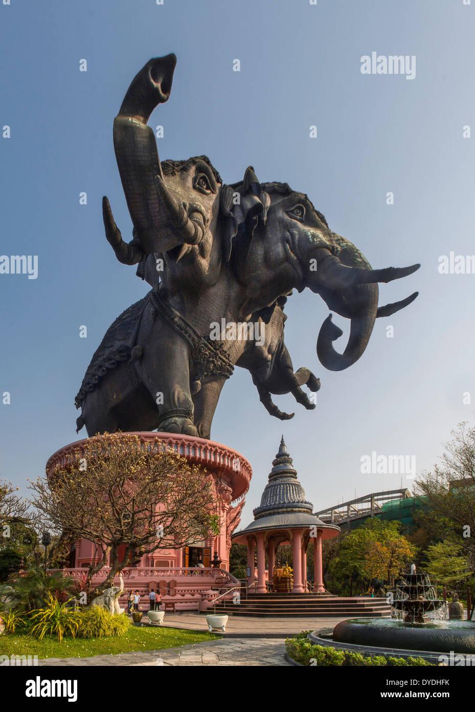 Thailand, Asia, Bangkok, Erawan, architecture, culture, elephant, exterior, impact, museum, touristic, travel, visual, weird - Stock Image