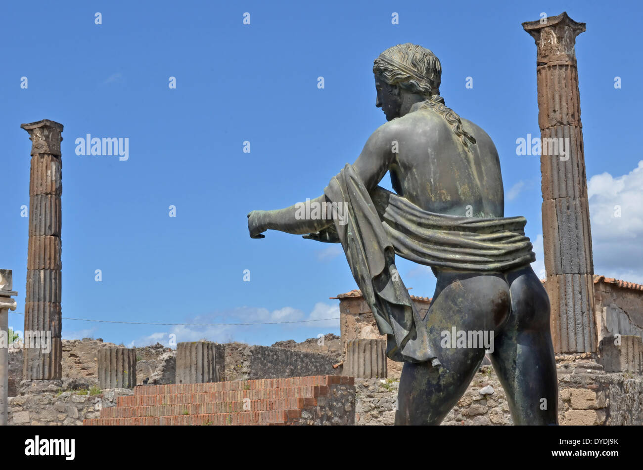 Italy Europe roman ancient Rome Pompeii Vesuvius ruins town preserved preservation art history remains architecture eruption - Stock Image